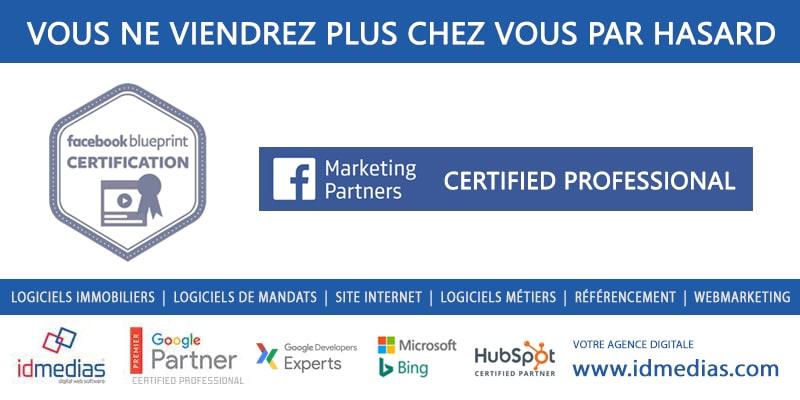 idmedias obtient la certification marketing et publicité FACEBOOK